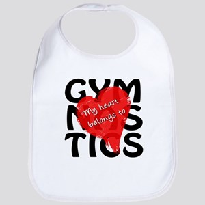 My Heart Belongs to Gymnastics Bib