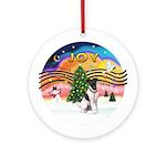 XMusic2-Fox Terrier (#1) Ornament (Round)