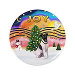 "XMusic2-Fox Terrier (#1) 3.5"" Button"