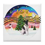 XMusic2-Fox Terrier (#1) Tile Coaster