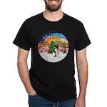 XMusic2-Fox Terrier (#1) Dark T-Shirt