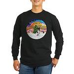 XMusic2-Fox Terrier (#1) Long Sleeve Dark T-Shirt