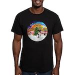 XMusic2-Fox Terrier (#1) Men's Fitted T-Shirt (dar