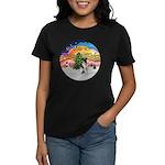 XMusic2-Fox Terrier (#1) Women's Dark T-Shirt