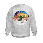 XMusic2-Fox Terrier (#1) Kids Sweatshirt