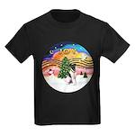 XMusic2-Fox Terrier (#1) Kids Dark T-Shirt