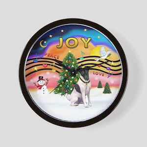 XMusic2-Fox Terrier (#1) Wall Clock