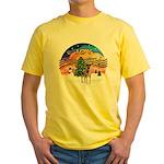 XMusic2-Fox T (brwn-wt) Yellow T-Shirt