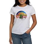 XMusic2-Fox T (brwn-wt) Women's T-Shirt