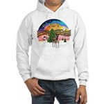 XMusic2-Fox T (brwn-wt) Hooded Sweatshirt