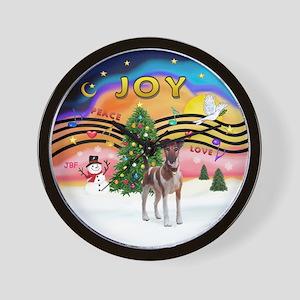 XMusic2-Fox T (brwn-wt) Wall Clock