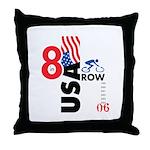 8 in a Row Throw Pillow