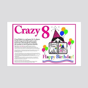 Crazy8 Birthday 35x21 Wall Decal