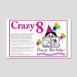 Crazy8 Birthday 20x12 Wall Decal