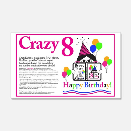 Crazy8 Birthday Wall Decal