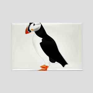 Pretty Puffin Rectangle Magnet