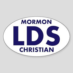 LDS Mormon Christian Sticker (Oval)