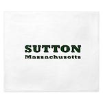Sutton Massachusetts Name King Duvet