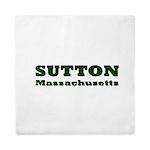 Sutton Massachusetts Name Queen Duvet