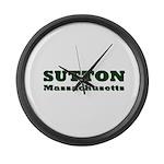 Sutton Massachusetts Name Large Wall Clock