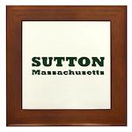 Sutton Massachusetts Name Framed Tile