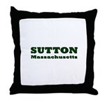 Sutton Massachusetts Name Throw Pillow