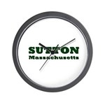 Sutton Massachusetts Name Wall Clock