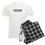 Sutton Massachusetts Name Men's Light Pajamas