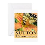 Sutton Massachusetts Butterfly Greeting Cards (Pk