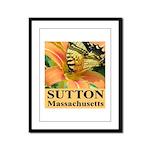 Sutton Massachusetts Butterfly Framed Panel Print