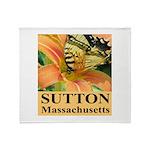 Sutton Massachusetts Butterfly Throw Blanket
