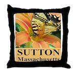 Sutton Massachusetts Butterfly Throw Pillow