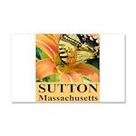 Sutton Massachusetts Butterfly Car Magnet 20 x 12