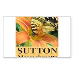 Sutton Massachusetts Butterfly Sticker (Rectangle)