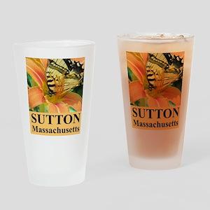 Sutton Massachusetts Butterfly Drinking Glass