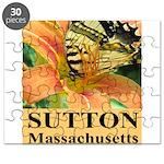 Sutton Massachusetts Butterfly Puzzle