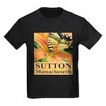 Sutton Massachusetts Butterfly Kids Dark T-Shirt