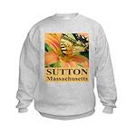 Sutton Massachusetts Butterfly Kids Sweatshirt