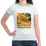 Sutton Massachusetts Butterfly Jr. Ringer T-Shirt