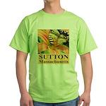 Sutton Massachusetts Butterfly Green T-Shirt