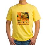 Sutton Massachusetts Butterfly Yellow T-Shirt