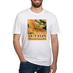 Sutton Massachusetts Butterfly Fitted T-Shirt
