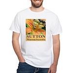 Sutton Massachusetts Butterfly White T-Shirt