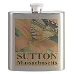 Sutton Massachusetts Butterfly Flask