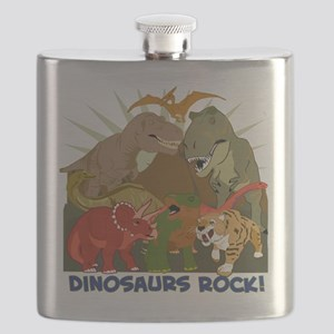CAFE-PRESS-I-love-Dinos Flask