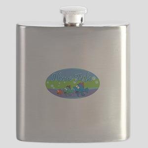 I love fish Flask