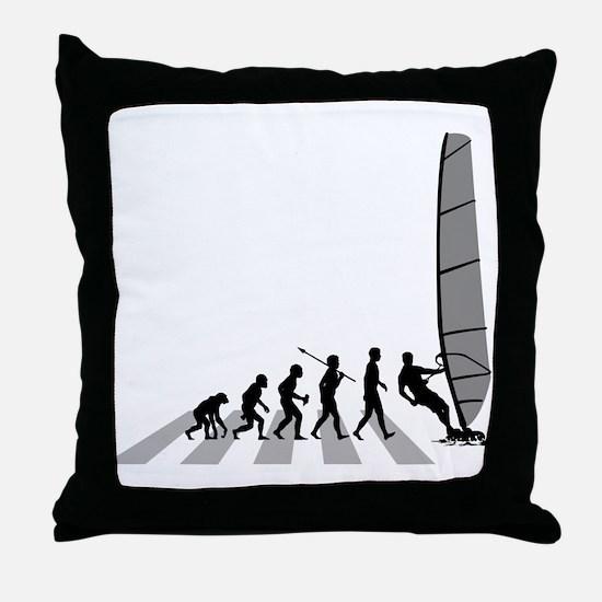 Wind Surfing Throw Pillow