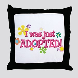 JUSTADOPTED44 Throw Pillow