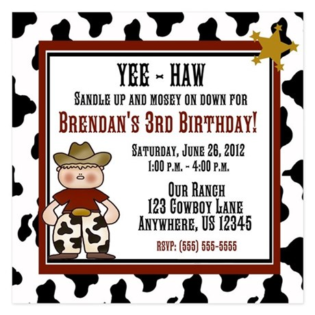 Cowboy 1st Birthday Invitations And Announcements CafePress