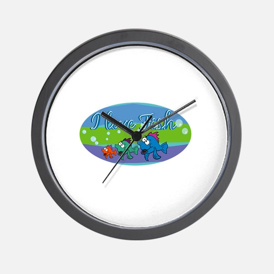 I love fish.png Wall Clock
